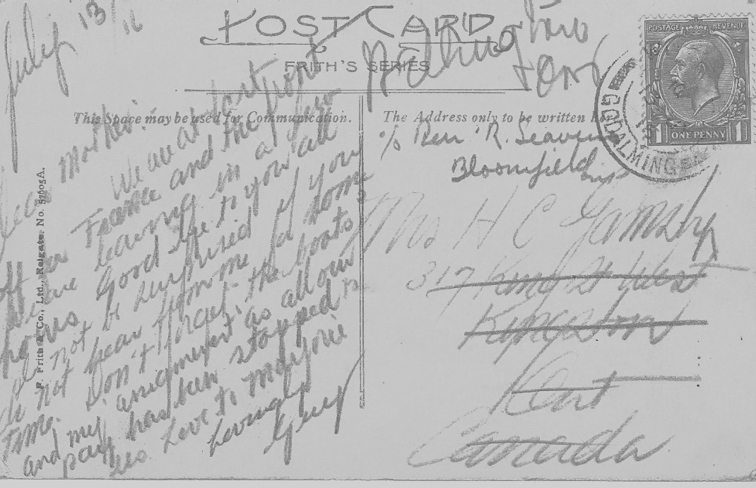letters from the front wwi brushed with mystery